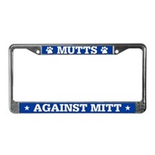 Mutts Against Mitt License Plate Frame