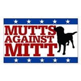 Mutts Against Mitt  Aufkleber