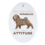 Chinese shar pei Oval Ornaments