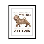 Shar Pei Attitude Framed Panel Print