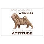 Shar Pei Attitude Large Poster