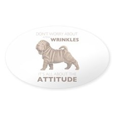 Shar Pei Attitude Decal