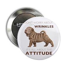 "Shar Pei Attitude 2.25"" Button (10 pack)"