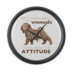 Shar Pei Attitude Large Wall Clock
