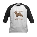 Shar Pei Attitude Kids Baseball Jersey
