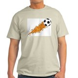 Soccer Fire Ash Grey T-Shirt