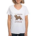 Shar Pei Attitude Women's V-Neck T-Shirt