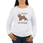 Shar Pei Attitude Women's Long Sleeve T-Shirt