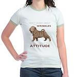 Shar Pei Attitude Jr. Ringer T-Shirt
