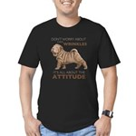 Shar Pei Attitude Men's Fitted T-Shirt (dark)