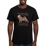 Shar Pei Attitude Men's Fitted T-Shirt (dark)