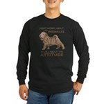 Shar Pei Attitude Long Sleeve Dark T-Shirt