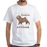 Shar Pei Attitude White T-Shirt