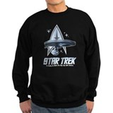 Star Trek Ship with Stars Sweatshirt