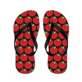 School Teacher Apple Flip Flops
