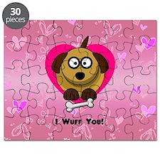 Puppy Love Valentine Puzzle