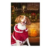 Holiday Brittany Xmas Postcards (Package of 8)