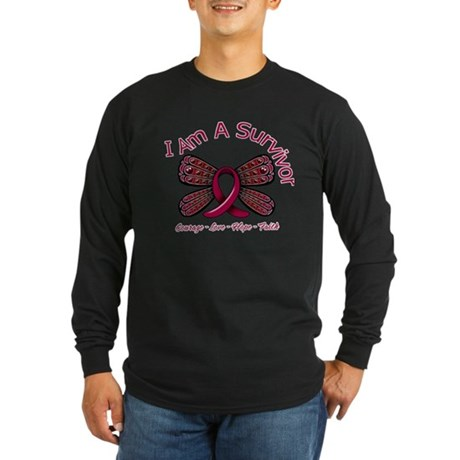 Sickle Cell Anemia Survivor Long Sleeve Dark T-Shi