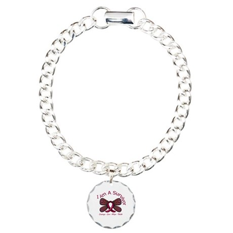 Sickle Cell Anemia Survivor Charm Bracelet, One Ch