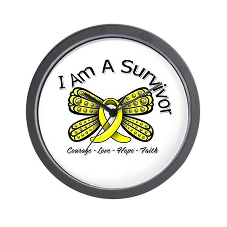 Sarcoma Cancer I'm A Survivor Wall Clock