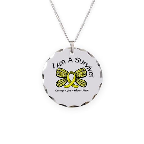 Sarcoma Cancer I'm A Survivor Necklace Circle Char