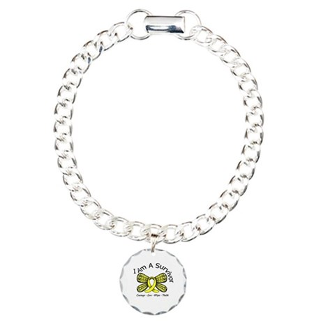 Sarcoma Cancer I'm A Survivor Charm Bracelet, One