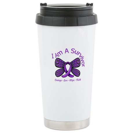 Sarcoidosis I'm A Survivor Ceramic Travel Mug