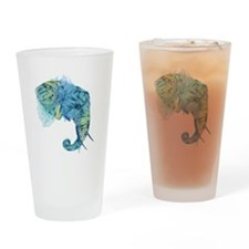 Blue Elephant Drinking Glass