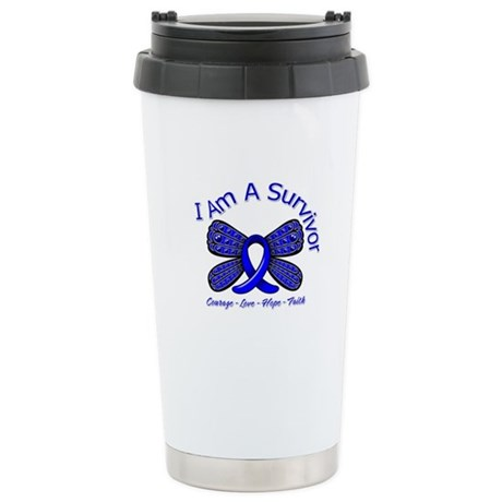 Rectal Cancer I'm A Survivor Ceramic Travel Mug