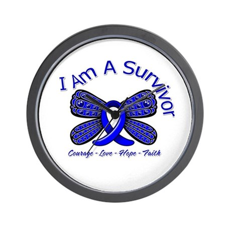 Rectal Cancer I'm A Survivor Wall Clock