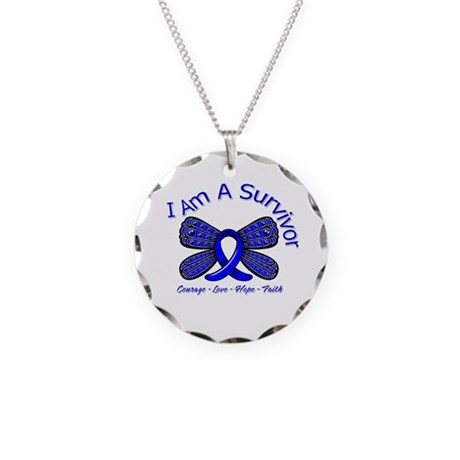 Rectal Cancer I'm A Survivor Necklace Circle Charm