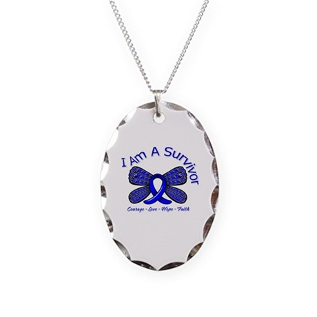 Rectal Cancer I'm A Survivor Necklace Oval Charm