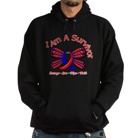 Pulmonary Fibrosis I'm A Survivor Hoodie (dark)