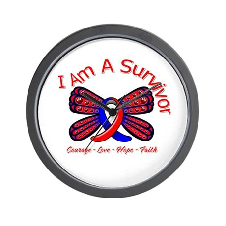 Pulmonary Fibrosis I'm A Survivor Wall Clock