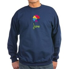 June Valentine Flower Sweatshirt