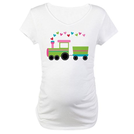 Valentine Train Maternity T-Shirt