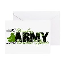 Daughter Combat Boots - ARMY Greeting Cards (Pk of