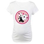 Cute Panda Valentine Maternity T-Shirt