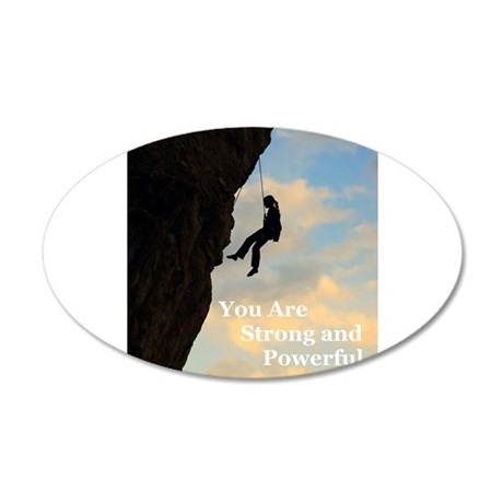 You Are Strong and Powerful 38.5 x 24.5 Oval Wall