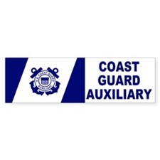 USCG Auxiliary Flag<BR> Bumpersticker