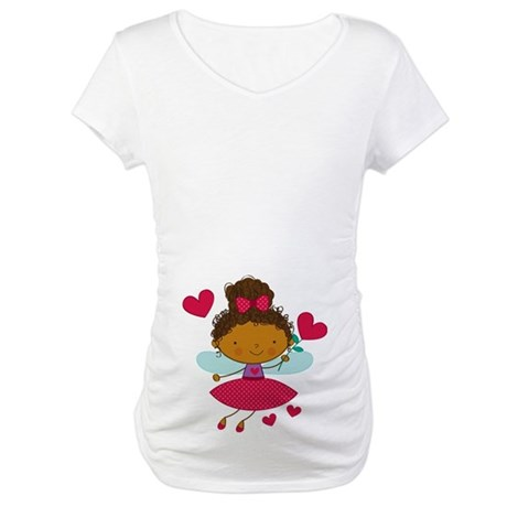Valentine Fairy Ethnic Maternity T-Shirt