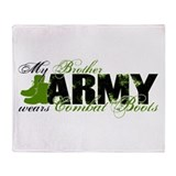 Bro Combat Boots - ARMY Throw Blanket