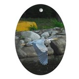 Great Blue Heron Ornament (Oval)