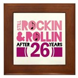 26th Anniversary Funny Gift Framed Tile