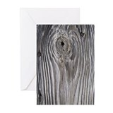 Barn Wood And Rusty Nails Greeting Cards (Pk o