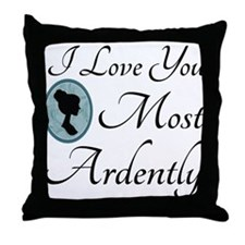 Austen Quote Love You Ardently Throw Pillow