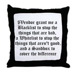 Three Pronged Defense Throw Pillow