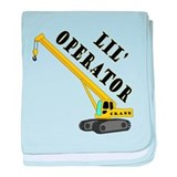 Lil' Crane Operator baby blanket