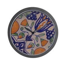 Floral Tile: Wall Clock (design 2)
