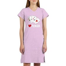 I Love Poker Women's Nightshirt